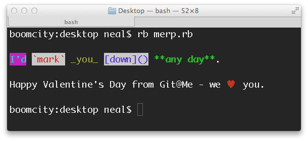 Happy Valentine's Day from Git@Me!
